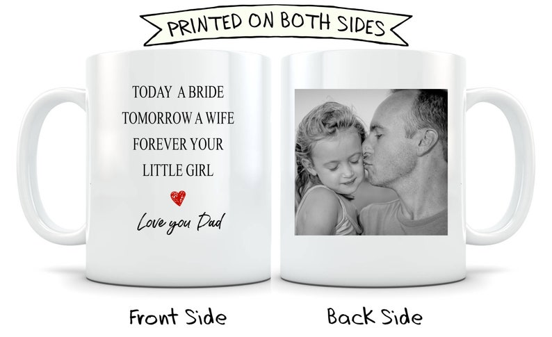 Bride Dad Photo Mug
