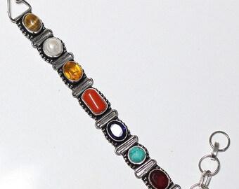 Marvellous Multi Stone 925 Silver Bracelet