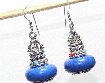 Marvellous Blue Jasper 925 Silver Earrings
