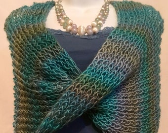 Aishling Twisted Hand Knit Capelet Summer Weight