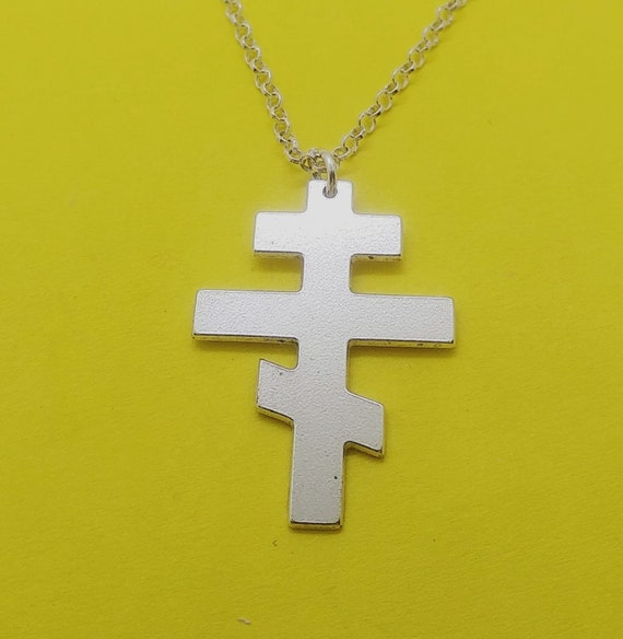 Russian orthodox cross necklace russian orthodox cross pendant etsy aloadofball Gallery