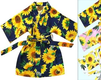 Sunflower Robe Women Kimono Robe-Bridesmaid Floral Robe-Bridesmaid Gift-Wedding Party Bridal Party Gift-Birthday Robe
