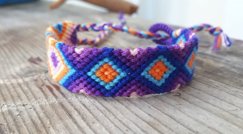 Ethnic Summer Bracelet Blue Pastel Bracelet Bestfriend Bracelet Friendship Bracelet Jewellery Multicolor Bracelet Woven Anklet