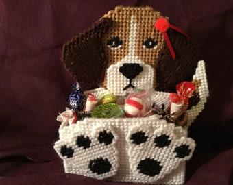 Handmade candy holder - Betty the Beagle