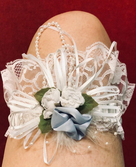 Wedding..Three 70s marriage garters clean and gorg