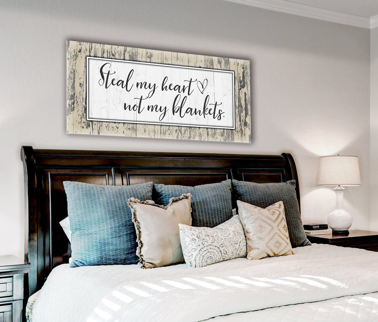 Couple Art // Wall Art // Couples Bedroom Art // Romantic ...