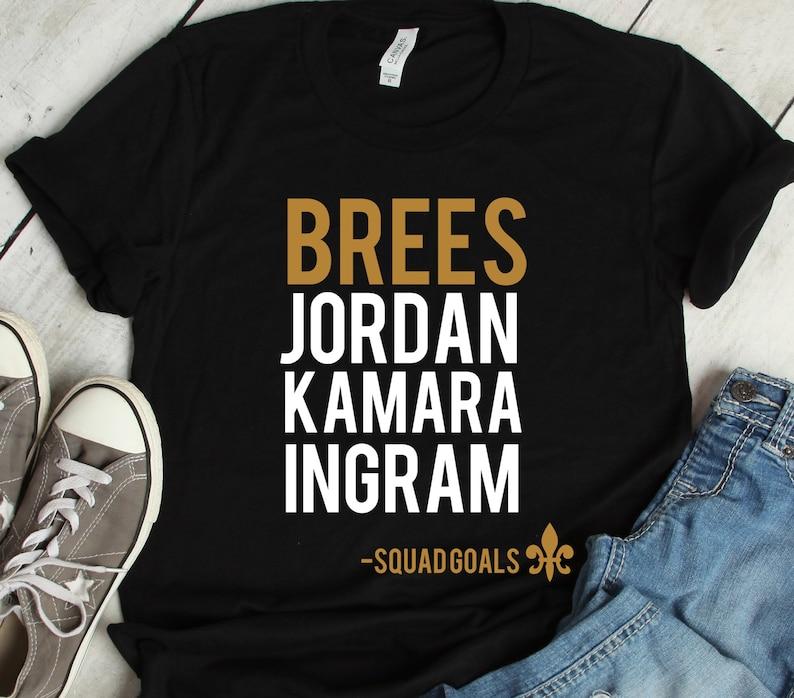 78f7b7c00e5202 New Orleans Saints Shirt Brees Jordan Kamara Ingram Short