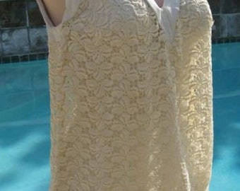 a738cb497a Vintage early 60 s Rose Marie Reid White Leather   Lace Playsuit Sunsuit  10 32