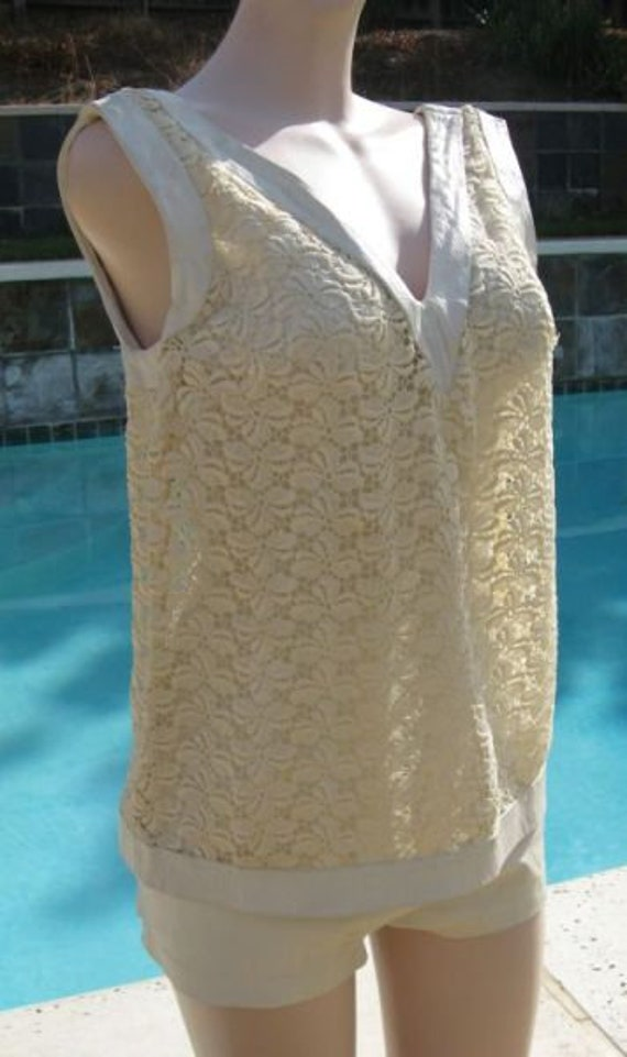Vintage early 60's Rose Marie Reid White Leather &