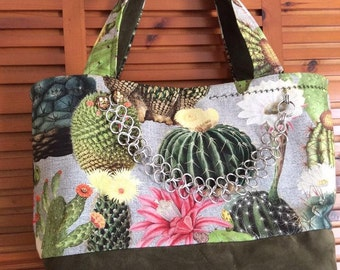 Tote and zipper pouch bag