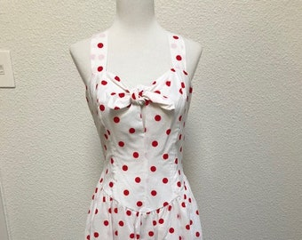 5ee1d591022 Size 8 White Red Polka Dot Sundress