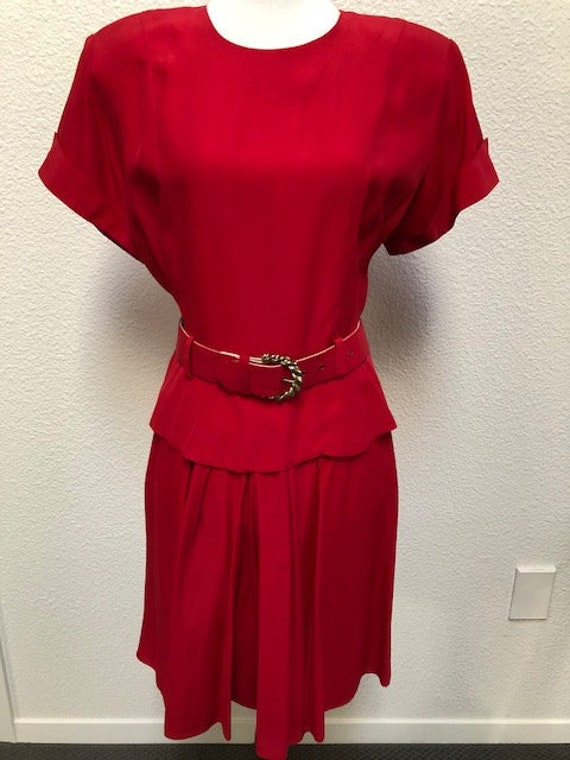 Size 10P Red Skort Dress