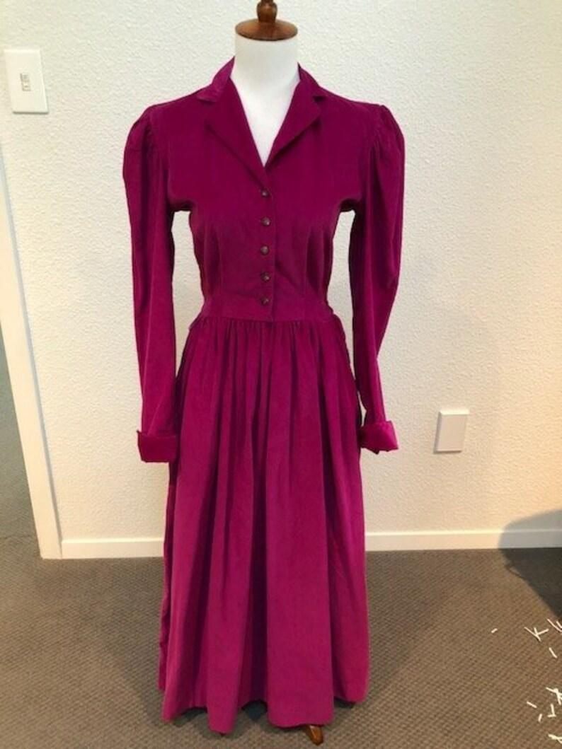 4c85578cdc6 Size 4 Dark Pink Corduroy Dress by Ralph Lauren