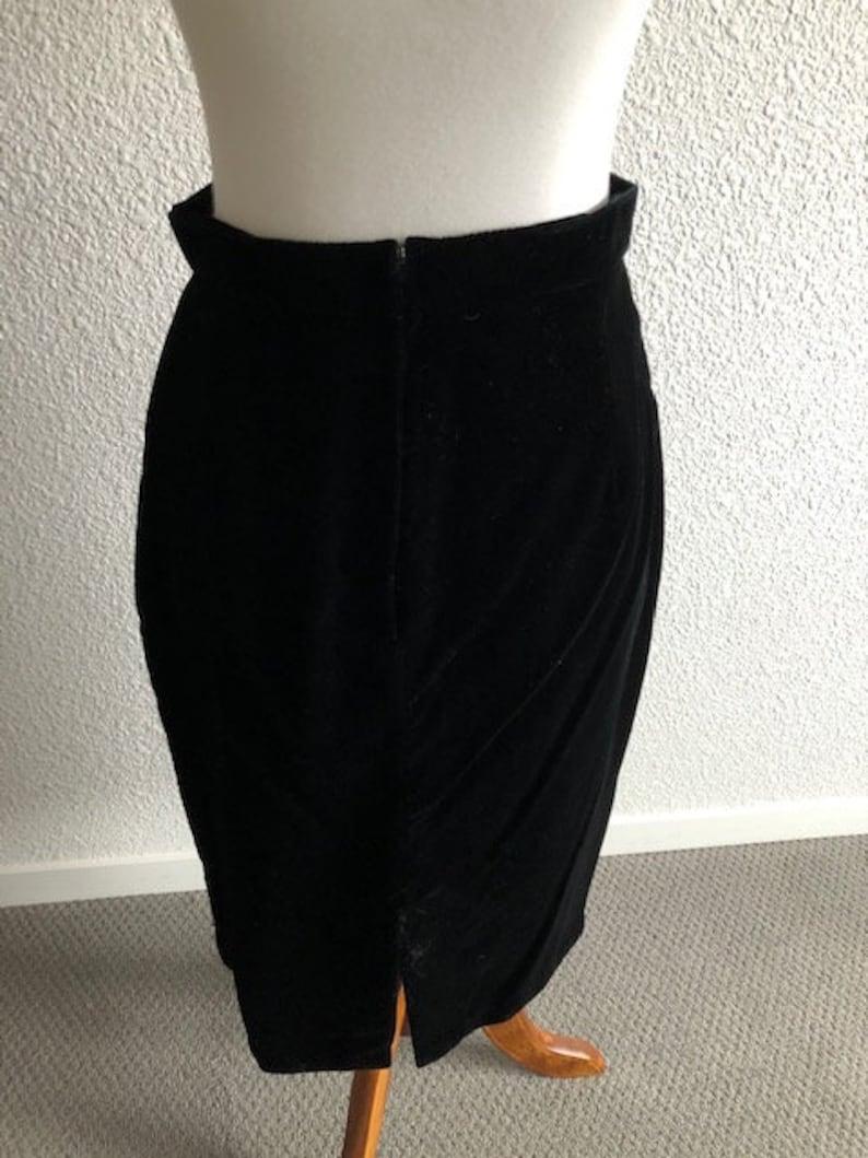 Size 1112 Black Velvet Skirt
