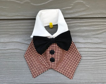 Male dog vest with bow tie