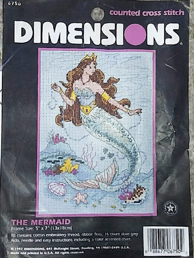 The Mermaid By Dimensions Counted Cross Stitch 6750
