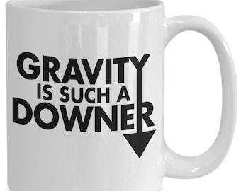 Funny gravity science coffee mug atom scientist biology chemistry gift