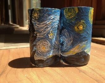 Pair of Starry Night Shot Glasses