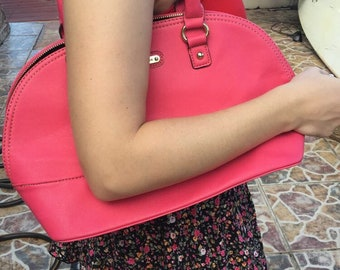 bright berry pink anne klein tote purse