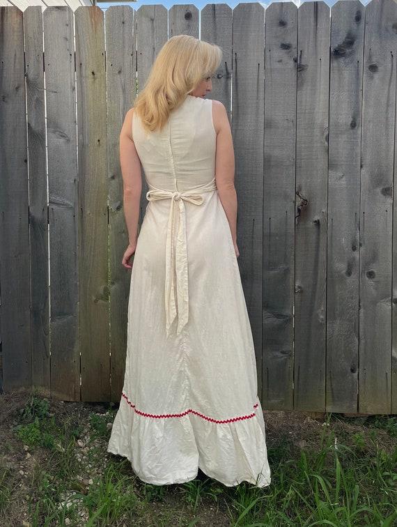 Vintage 70s California Miss Patchwork Quilt Squar… - image 3
