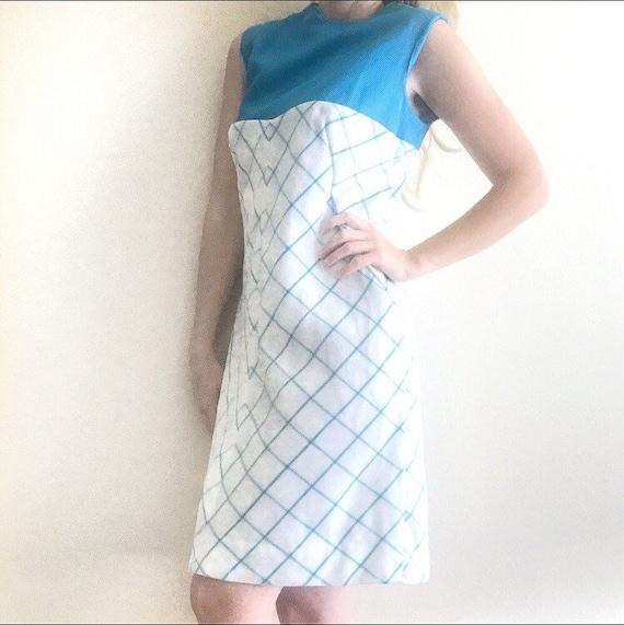 60s Vintage, 60s Mod dress, Blue Mod Dress, Mod Vi