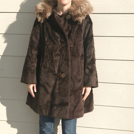 Sears Vintage Kerrybrooke Brown Fur Coat L