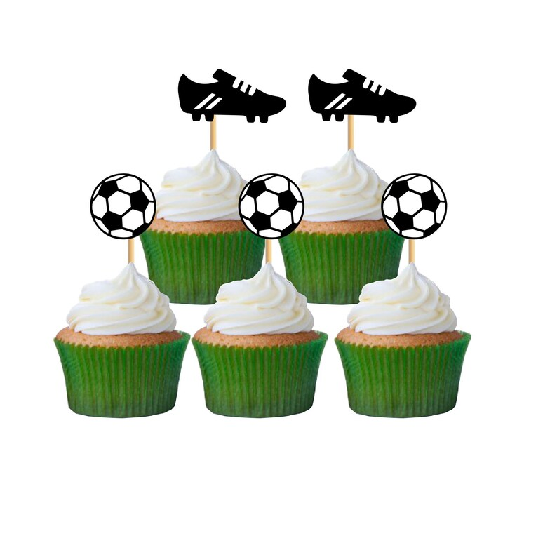 12 Soccer ToppersPremium QualityCupcake Topper