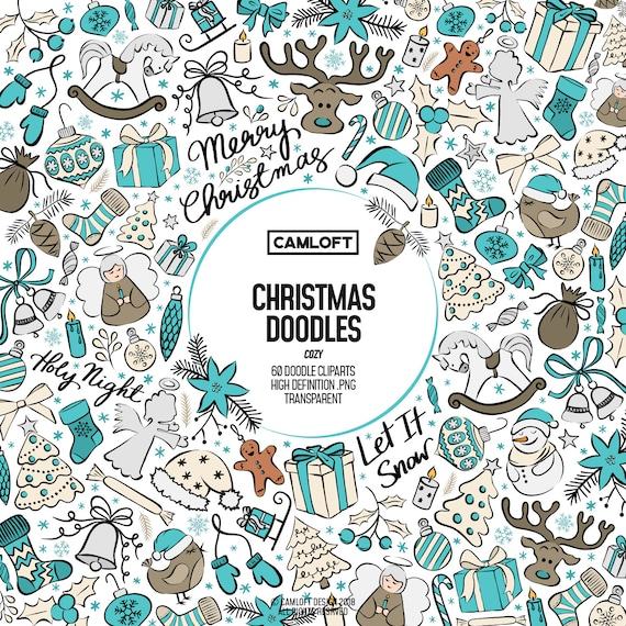 Weihnachten Doodle Cliparts Urlaub Doodles Weihnachten Kunst Weihnachten Planner Weihnachten Aufkleber Urlaubsplaner Winter Cliparts