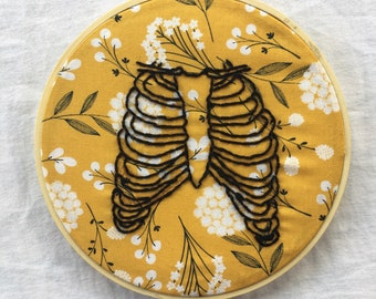 Ribcage Embroidered Wall Hang