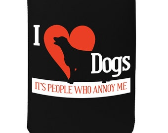Funny Novelty Birthday Stubbie Obedient Stubby Holder I Love Beer