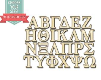 Wooden Greek Letters Etsy