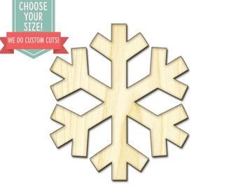 Snowflake Winter Wood Cut Out