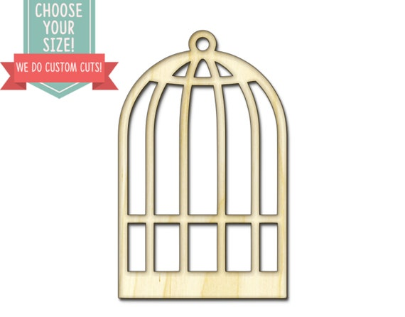 Bird Cage Wood Cut Out - Custom Choose Your Size - Laser Cut Wooden Art  Craft Supplies Wall Hanging Decor Wedding Nursery DCS0069