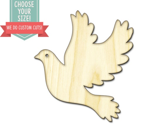 Olive Wood Dove Wall Hanging Or Ornament with The Word Peace Cut Out
