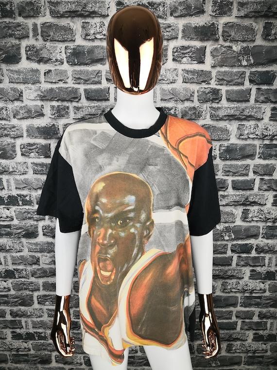 MICHAEL JORDAN Vintage Nike authentique 90 s T Shirt multicolore NBA Jordan grande chemise Chicago Bulls Tee Pippen Vintage Rare