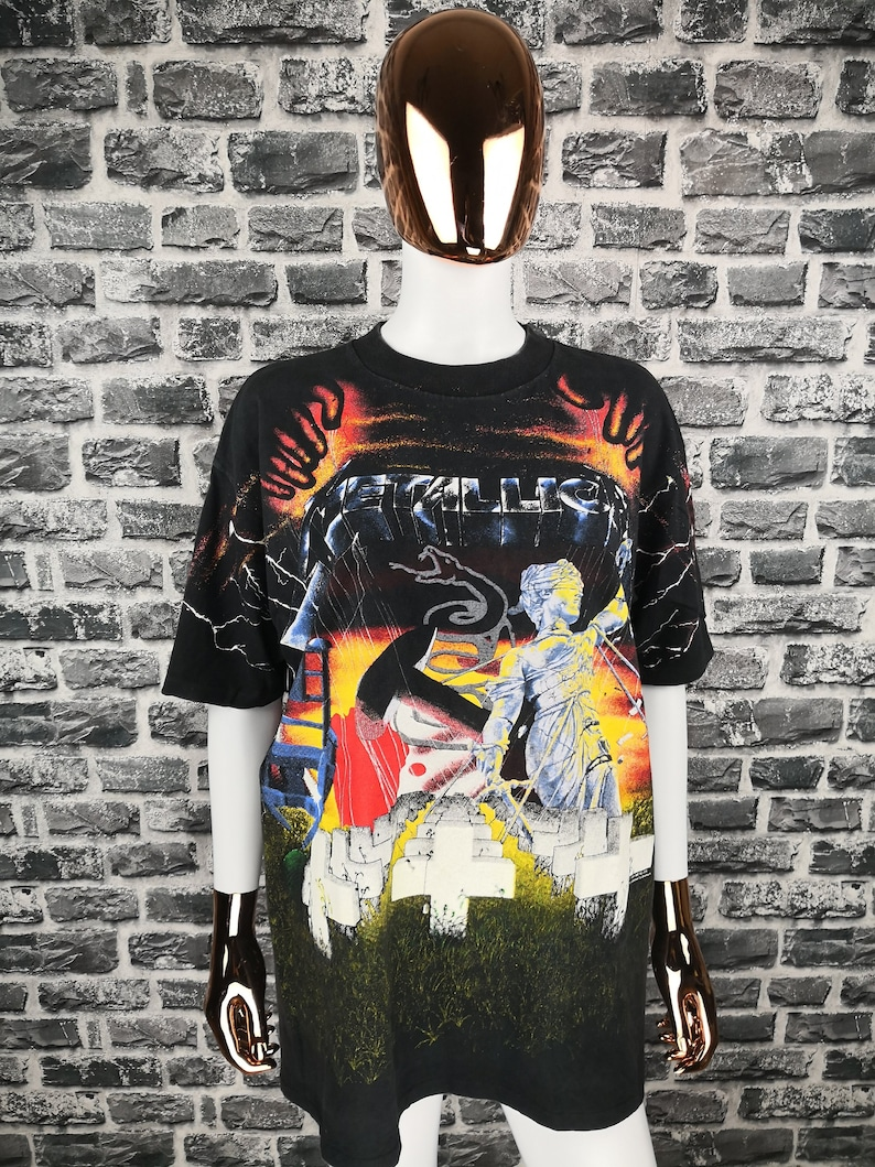 e87f0650 METALLICA Vintage All over Print 1991 T-Shirt Collage Concert   Etsy