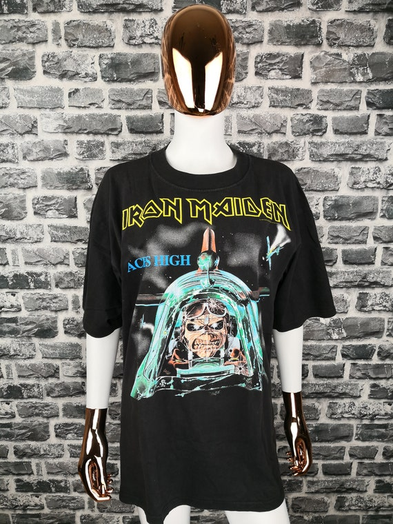 IRON MAIDEN 1984 Vintage T-Shirt Aces High Classic