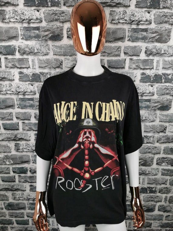 ALICE IN CHAINS 1993 Vintage T-Shirt Rooster / Ext