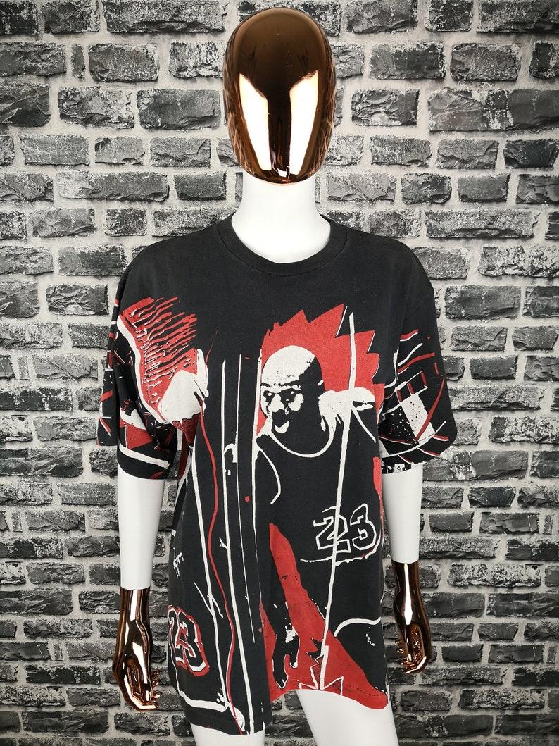 61b81e360b8876 MICHAEL JORDAN Vintage Nike Authentic 90s T-Shirt NBA