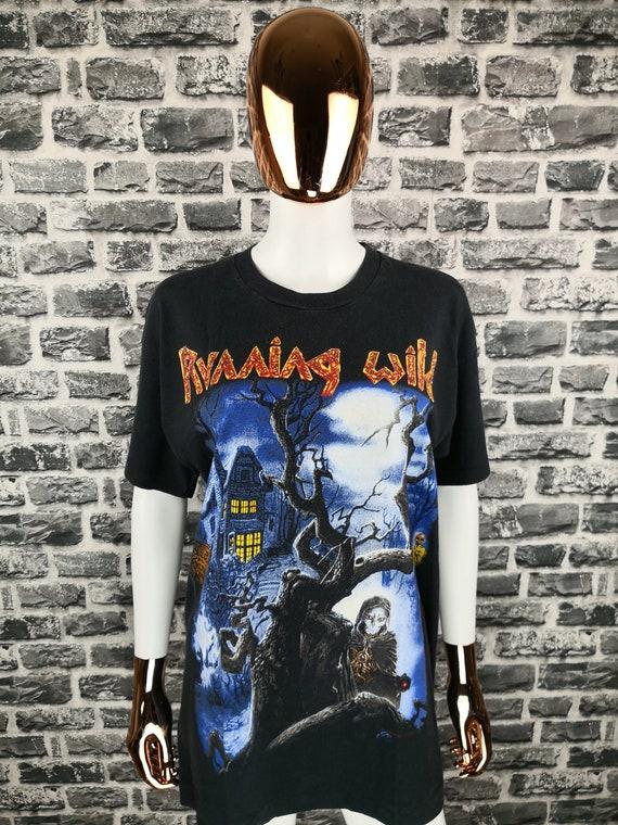 RUNNING WILD 1994 Vintage T-Shirt Black Hand Inn T