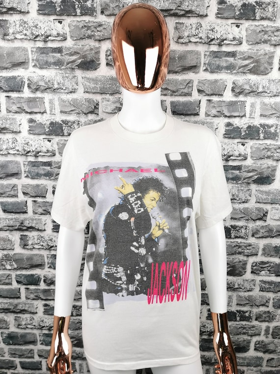 MICHAEL JACKSON 1988 BAD Tour T-shirt King of Pop