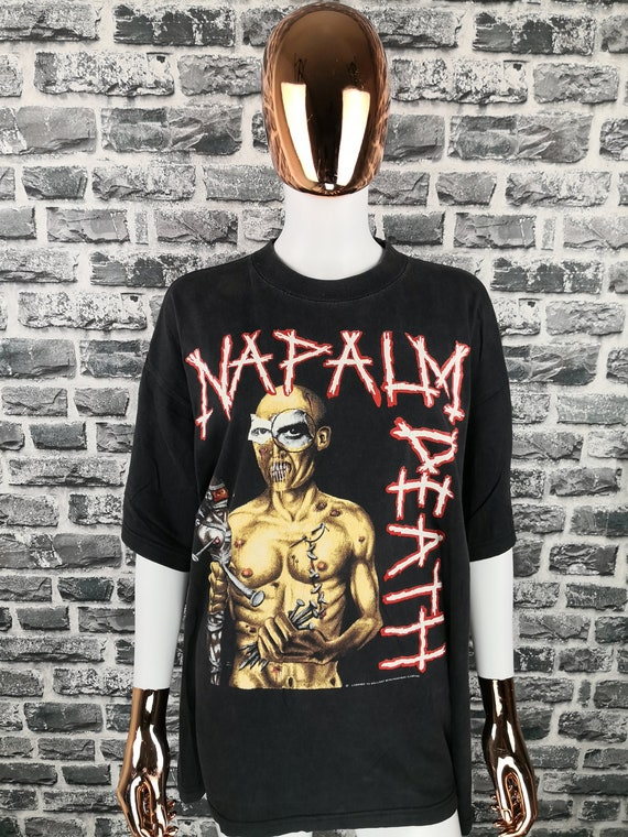 NAPALM DEATH 1991 Vintage T-Shirt Utopia Banished