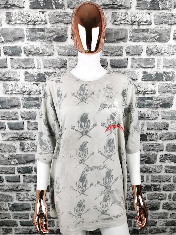 METALLICA 90s Vintage T-Shirt Birth School Death /