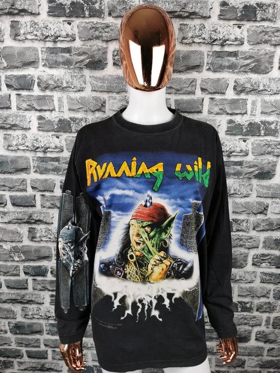 RUNNING WILD 1996 Vintage Longsleeve Shirt Masquer