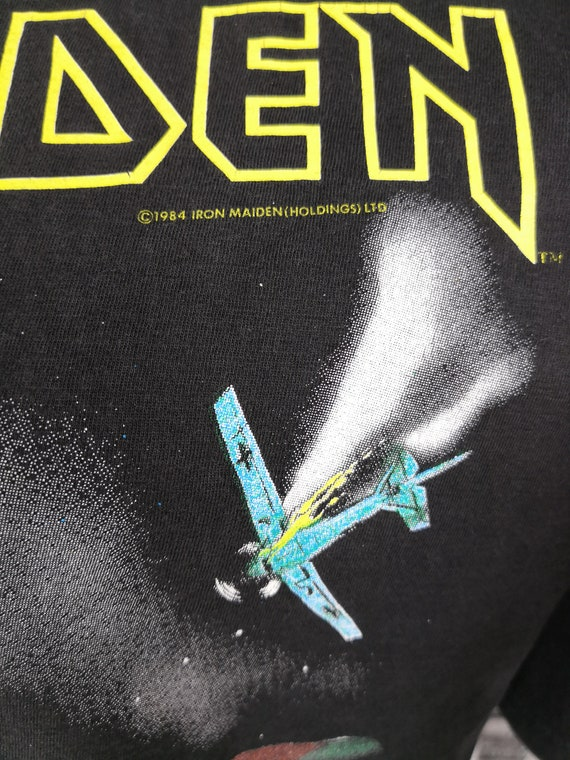 IRON MAIDEN 1984 Vintage T-Shirt Aces High Classi… - image 4