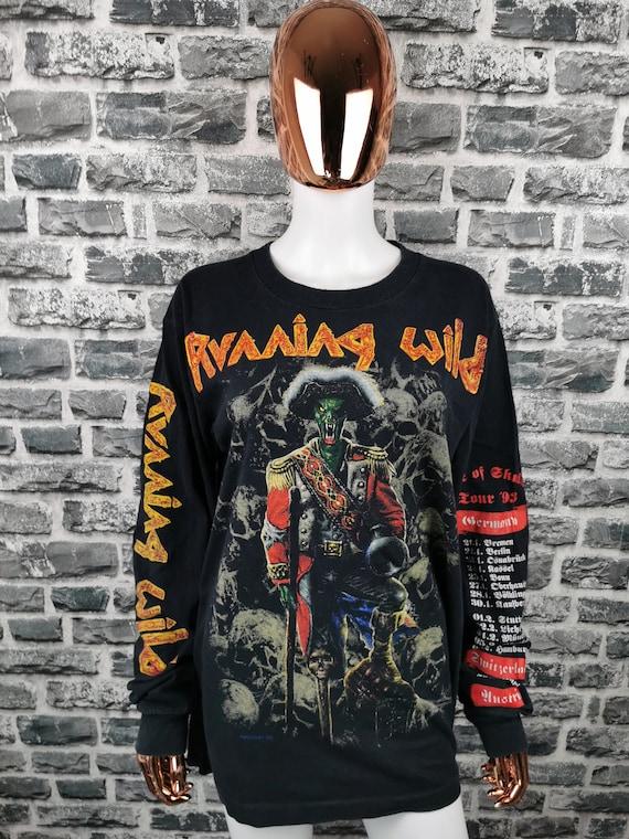 RUNNING WILD 1993 Vintage Longsleeve Shirt Pile of