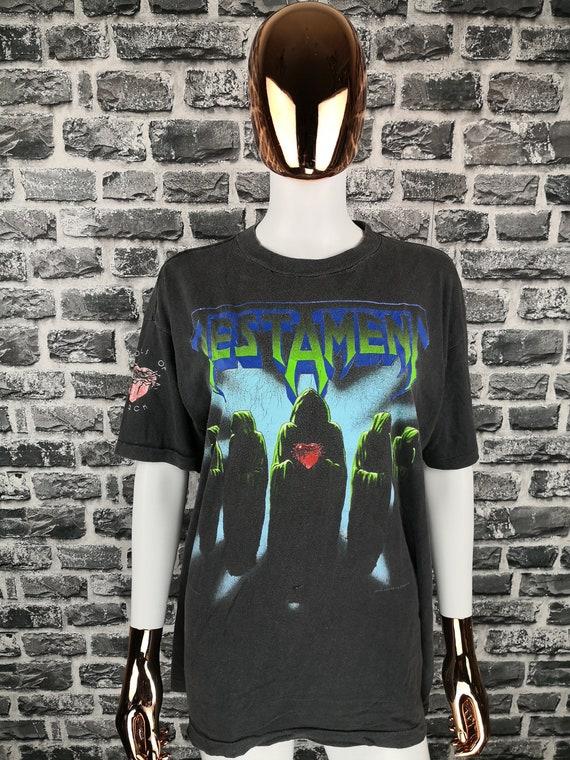 TESTAMENT 1990 Vintage T-Shirt Souls Of Black / Cl