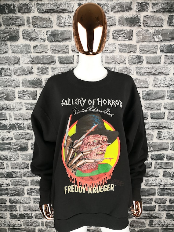 FREDDY KRUEGER Vintage 1991 Sweatshirt + Original Certificate of Authenticity Mega Rare Movie Horror A Nightmare On Elm Street Tee