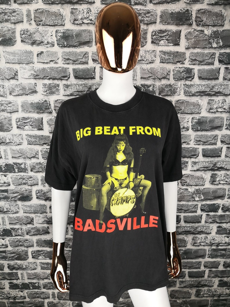 THE CRAMPS Vintage T-shirt 90s Big Beat From Badsville Shirt Epitaph