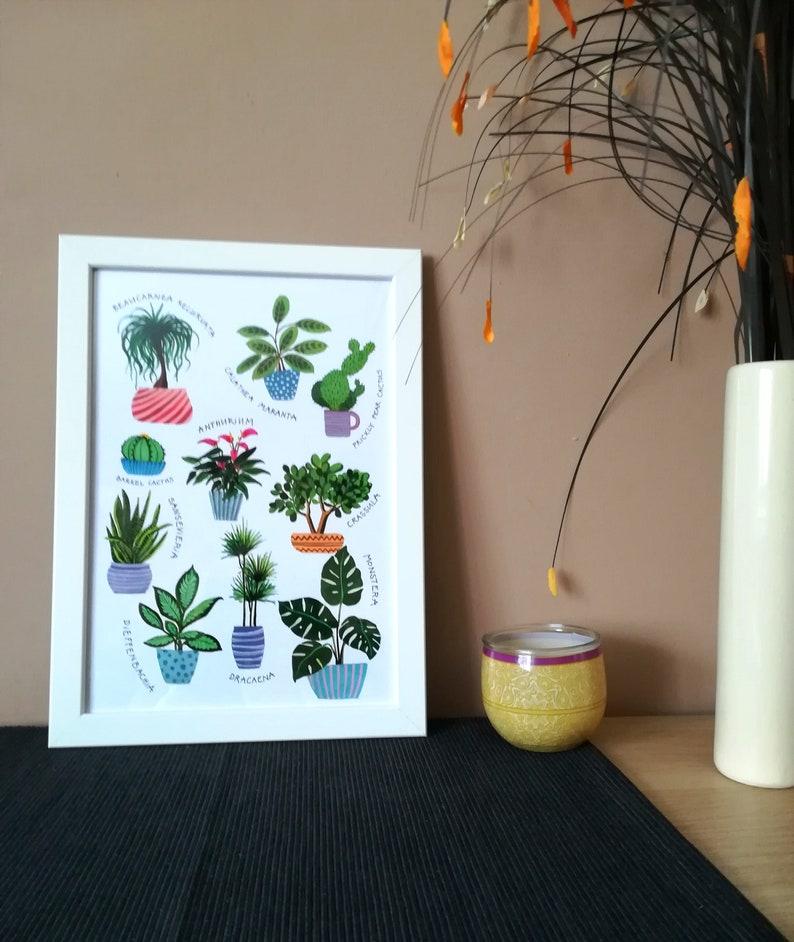 Botanical Art Poster A4 Home Decor Art Print Plant Etsy